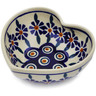 4-inch Stoneware Heart Shaped Bowl - Polmedia Polish Pottery H2797K