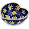 4-inch Stoneware Heart Shaped Bowl - Polmedia Polish Pottery H2826K