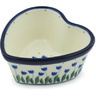 4-inch Stoneware Heart Shaped Bowl - Polmedia Polish Pottery H5257H