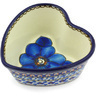 4-inch Stoneware Heart Shaped Bowl - Polmedia Polish Pottery H5403G