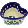 4-inch Stoneware Heart Shaped Bowl - Polmedia Polish Pottery H6702D