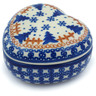 4-inch Stoneware Heart Shaped Jar - Polmedia Polish Pottery H9849H