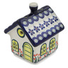 4-inch Stoneware House Shaped Candle Holder - Polmedia Polish Pottery H3500L