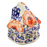 4-inch Stoneware House Shaped Candle Holder - Polmedia Polish Pottery H4218K