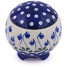 4-inch Stoneware Jar with Lid - Polmedia Polish Pottery H0219G