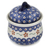4-inch Stoneware Jar with Lid - Polmedia Polish Pottery H0774K