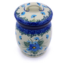 4-inch Stoneware Jar with Lid - Polmedia Polish Pottery H0790I