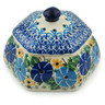 4-inch Stoneware Jar with Lid - Polmedia Polish Pottery H1315B