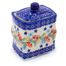 4-inch Stoneware Jar with Lid - Polmedia Polish Pottery H2233J