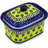 4-inch Stoneware Jar with Lid - Polmedia Polish Pottery H2272D