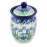 4-inch Stoneware Jar with Lid - Polmedia Polish Pottery H2276E