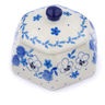 4-inch Stoneware Jar with Lid - Polmedia Polish Pottery H2433J
