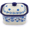4-inch Stoneware Jar with Lid - Polmedia Polish Pottery H2526J