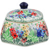 4-inch Stoneware Jar with Lid - Polmedia Polish Pottery H2776L