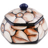 4-inch Stoneware Jar with Lid - Polmedia Polish Pottery H3072L