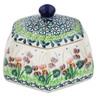 4-inch Stoneware Jar with Lid - Polmedia Polish Pottery H3152L