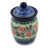 4-inch Stoneware Jar with Lid - Polmedia Polish Pottery H3557A