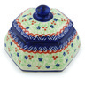 4-inch Stoneware Jar with Lid - Polmedia Polish Pottery H3731H