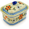 4-inch Stoneware Jar with Lid - Polmedia Polish Pottery H4103D