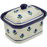 4-inch Stoneware Jar with Lid - Polmedia Polish Pottery H4916B