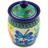 4-inch Stoneware Jar with Lid - Polmedia Polish Pottery H5471G