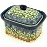 4-inch Stoneware Jar with Lid - Polmedia Polish Pottery H5512A