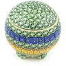 4-inch Stoneware Jar with Lid - Polmedia Polish Pottery H6696G