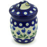 4-inch Stoneware Jar with Lid - Polmedia Polish Pottery H6768G