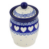 4-inch Stoneware Jar with Lid - Polmedia Polish Pottery H6783B
