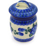 4-inch Stoneware Jar with Lid - Polmedia Polish Pottery H6864F