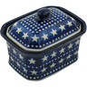 4-inch Stoneware Jar with Lid - Polmedia Polish Pottery H6940H