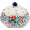 4-inch Stoneware Jar with Lid - Polmedia Polish Pottery H7341J