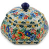 4-inch Stoneware Jar with Lid - Polmedia Polish Pottery H7342J