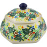 4-inch Stoneware Jar with Lid - Polmedia Polish Pottery H7344J