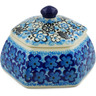 4-inch Stoneware Jar with Lid - Polmedia Polish Pottery H7346J