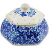 4-inch Stoneware Jar with Lid - Polmedia Polish Pottery H7349J