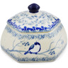 4-inch Stoneware Jar with Lid - Polmedia Polish Pottery H7351J