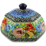 4-inch Stoneware Jar with Lid - Polmedia Polish Pottery H7352J