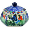 4-inch Stoneware Jar with Lid - Polmedia Polish Pottery H7353J