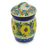 4-inch Stoneware Jar with Lid - Polmedia Polish Pottery H8278J