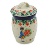 4-inch Stoneware Jar with Lid - Polmedia Polish Pottery H8287J