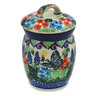 4-inch Stoneware Jar with Lid - Polmedia Polish Pottery H8290J