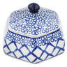 4-inch Stoneware Jar with Lid - Polmedia Polish Pottery H8373K