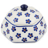 4-inch Stoneware Jar with Lid - Polmedia Polish Pottery H8406K