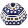4-inch Stoneware Jar with Lid - Polmedia Polish Pottery H9058K