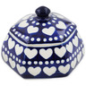 4-inch Stoneware Jar with Lid - Polmedia Polish Pottery H9136K