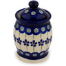 4-inch Stoneware Jar with Lid - Polmedia Polish Pottery H9377C