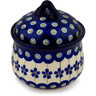 4-inch Stoneware Jar with Lid - Polmedia Polish Pottery H9489C