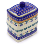 4-inch Stoneware Jar with Lid - Polmedia Polish Pottery H9839I
