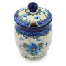 4-inch Stoneware Jar with Lid with Opening - Polmedia Polish Pottery H0701I